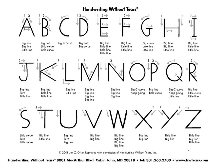 Printable Worksheets free visual perceptual worksheets : Capital letters - Occupational Therapy